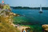 Rovinj Monte Beach blue and green inlet