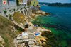 Rovinj Monte Beach under city walls