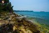 Rovinj Golden bay nearby rocky shore