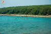 Rovinj Cisterna Beautiful pebble beach and green water