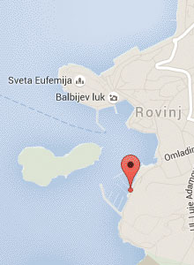 Mora Fishing Rovinj Locaiton Map